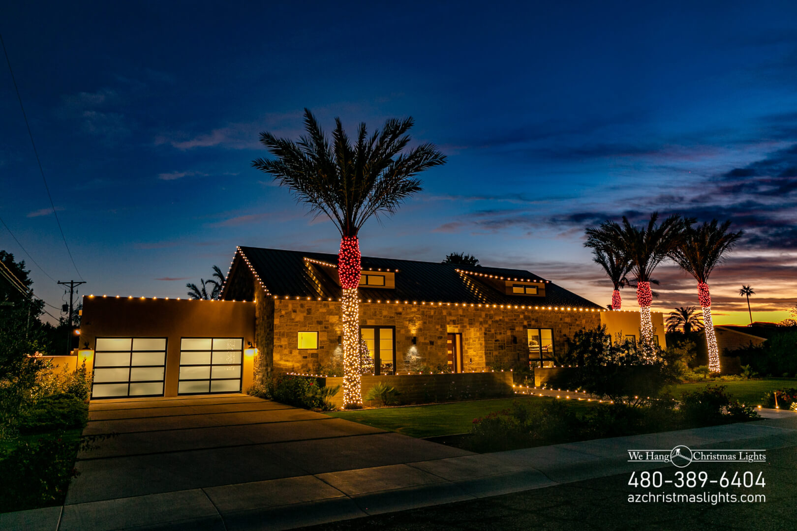 Christmas Light Installation in Phoenix, AZ | We Hang Christmas Lights LLC